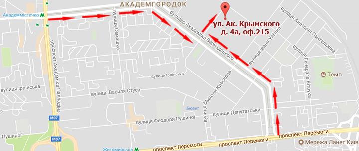 Карта Киев ОМіС